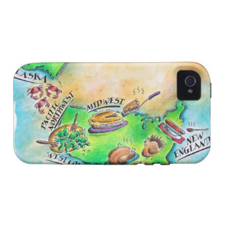 Foods of the USA Case-Mate iPhone 4 Covers