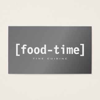 Foody Bold Business Card