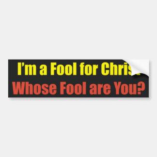 fool bumper sticker