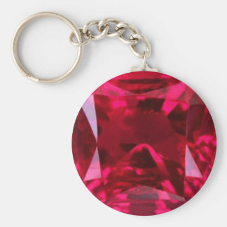Fool the Eye Faux Ruby by Sharles Basic Round Button Key Ring
