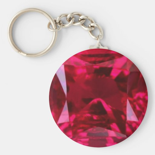 Fool the Eye Faux Ruby by Sharles Key Chains