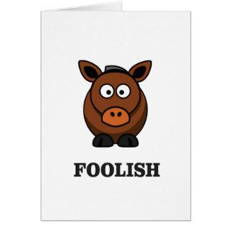 foolish donkey card