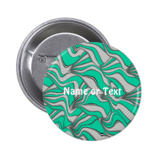foolish movements aqua 6 cm round badge