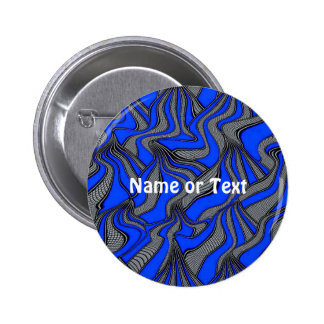 foolish movements blue 6 cm round badge