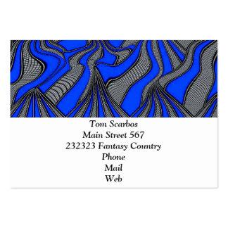 foolish movements blue business card template
