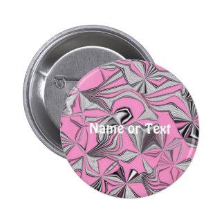 foolish movements pink effect 6 cm round badge