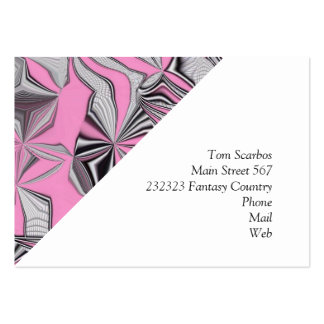foolish movements pink effect business cards