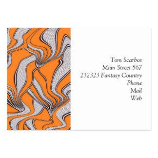 foolish movements swirl orange pack of chubby business cards