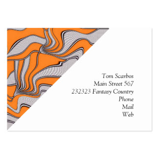 foolish movements swirl orange business card templates