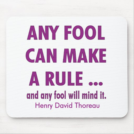 Fools and Rules Mousepads