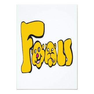 """Fools 5"""" X 7"""" Invitation Card"""