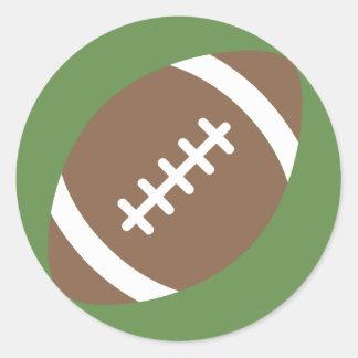 Foot-Ball Emoji Classic Round Sticker