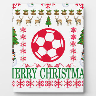 FOOT BALL MERRY CHRISTMAS . PLAQUE