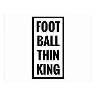 foot ball think king or football thinking? postcard