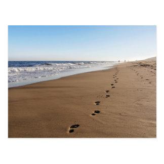 Foot castings at the sea postcard