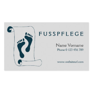foot-maintains pack of standard business cards