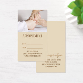 Foot Massage acupressure physiotherapy Appointment Business Card