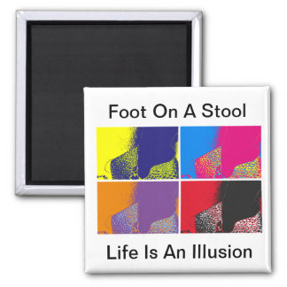 Foot On A Stool Magnet