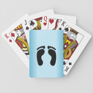 Foot Prints Playing Cards