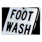 FOOT WASH CARD
