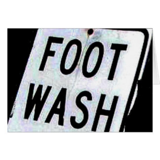 FOOT WASH CARD