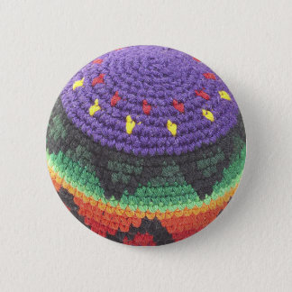 footbag foot sack photo 6 cm round badge