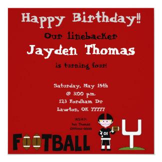 "football1 copy, Happy Birthday!!, Our linebacke... 5.25"" Square Invitation Card"