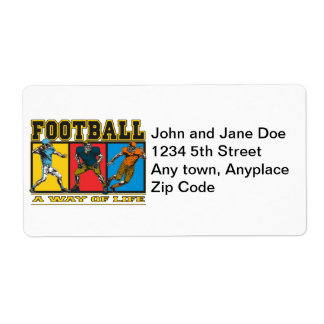 Football A Way of Life Shipping Label