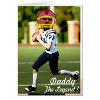 Football American Player - Photo with YOUR & Text- Card