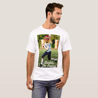 Football American Player - Photo with YOUR & Text- T-Shirt