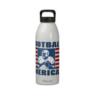 Football American Water Bottle 32 oz