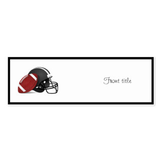 Football And Helmet Pack Of Skinny Business Cards