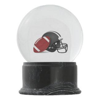 Football And Helmet Snow Globe