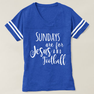 Football and Jesus T-Shirt