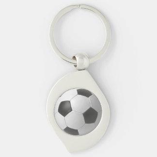 Football Art Twisted Metal Key Chain Key Rings