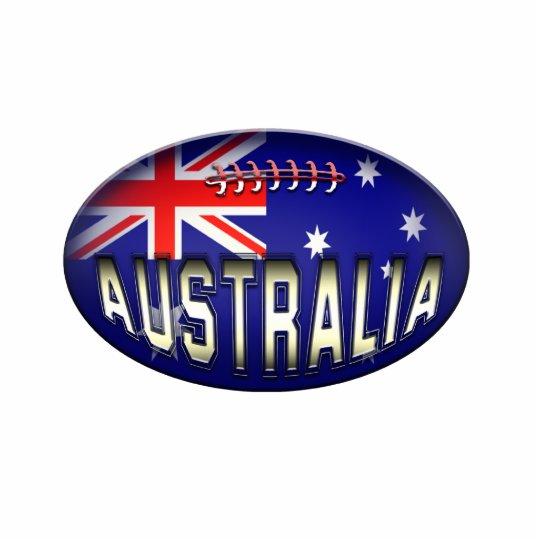 Football Australian Flag Ornament Photo Sculpture Decoration