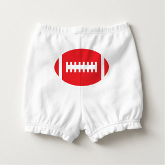 FOOTBALL Baby Backside | Red Sports Football Nappy Cover