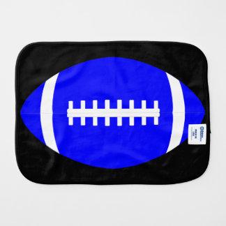 Football Baby Blue Football Team Color Burp Cloth