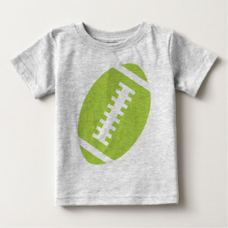 FOOTBALL BABY Gray | Front Lime Green Football Baby T-Shirt