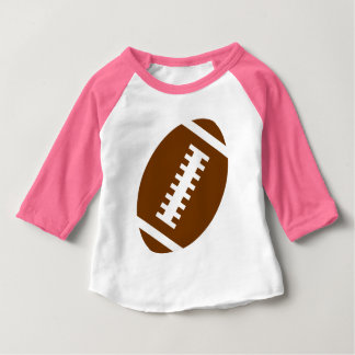 FOOTBALL BABY Pink | Front Football Graphic Baby T-Shirt