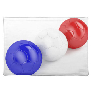 Football balls with flag of France Placemat