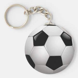 Football Basic Round Button Key Ring