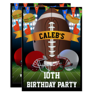 Football & bbq Barbeque Birthday Party Card