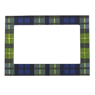 Football Blue Green Vintage Team Colors Magnetic Picture Frames