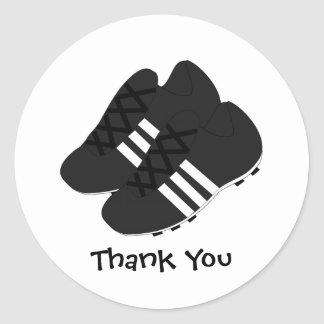 Football Boots Thank You Round Sticker