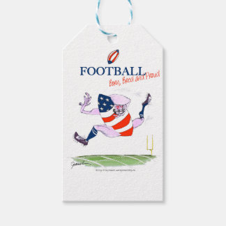 Football born bred proud, tony fernandes gift tags