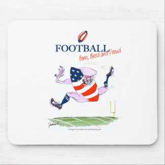 Football born bred proud, tony fernandes mouse pad