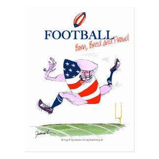 Football born bred proud, tony fernandes postcard
