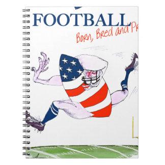Football born bred proud, tony fernandes spiral notebook