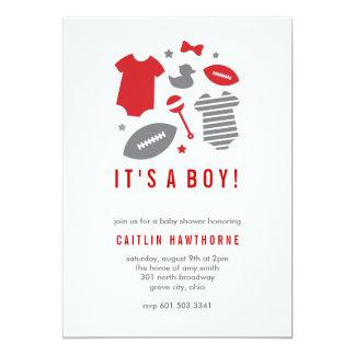 Football Boy Baby Shower Card